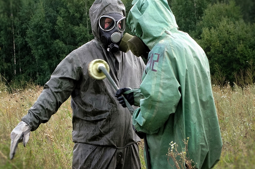 The NBC Troops identify and assess radiological, chemical and biological environment, scales and effects of damages of objects hazardous radiatively, chemically and biologically.