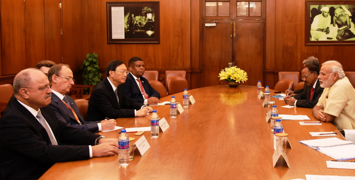 The BRICS High Representatives met Indian Prime Minister Narendra Modi to brief him about their talks and recommendations.