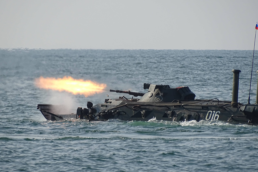 Military servicemen practiced organization of all types of ship defence, conduct combat firing at naval and aerial targets.