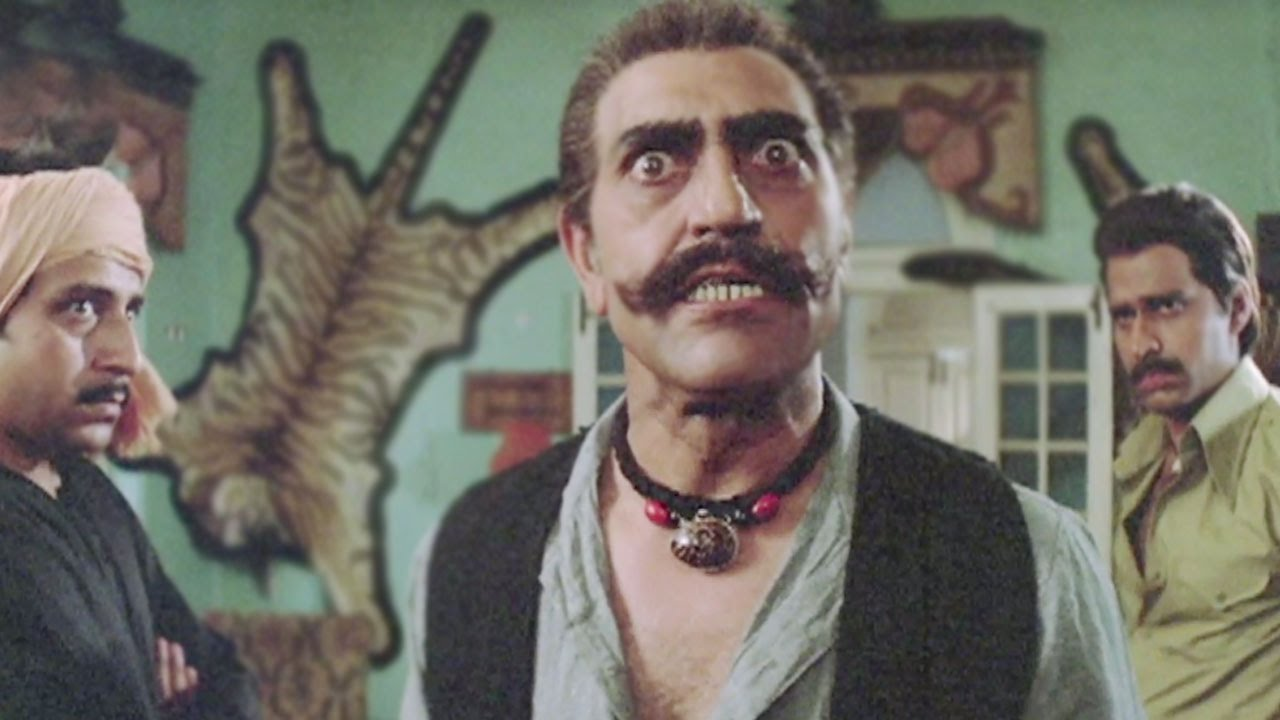 Legendary actor Amrish Puri expressed Indian anger and emotions in a flawless manner. Source: A still from Waaris (1988).