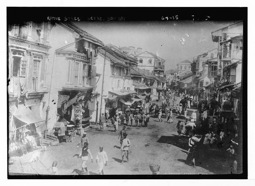 Streets of Bombay. Early 20th century.
