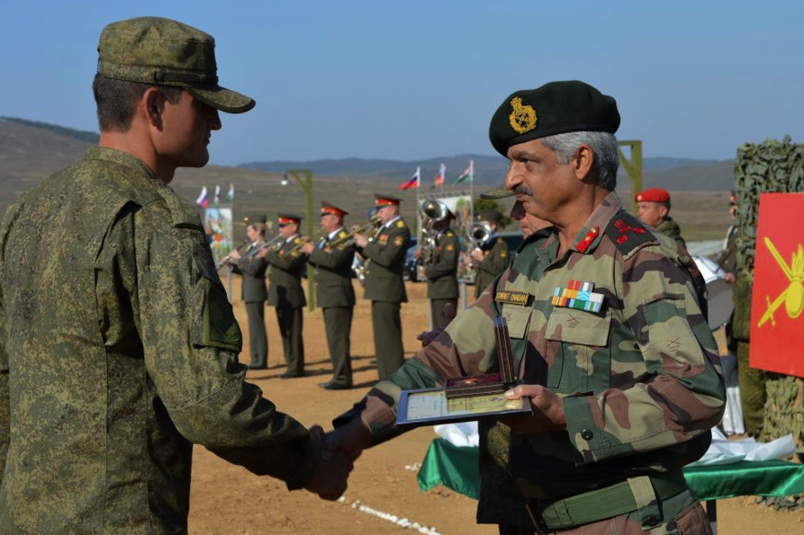 The exercises serve to facilitate cooperation and foster the exchange of relevant experience between the Indian and Russian armed forces.