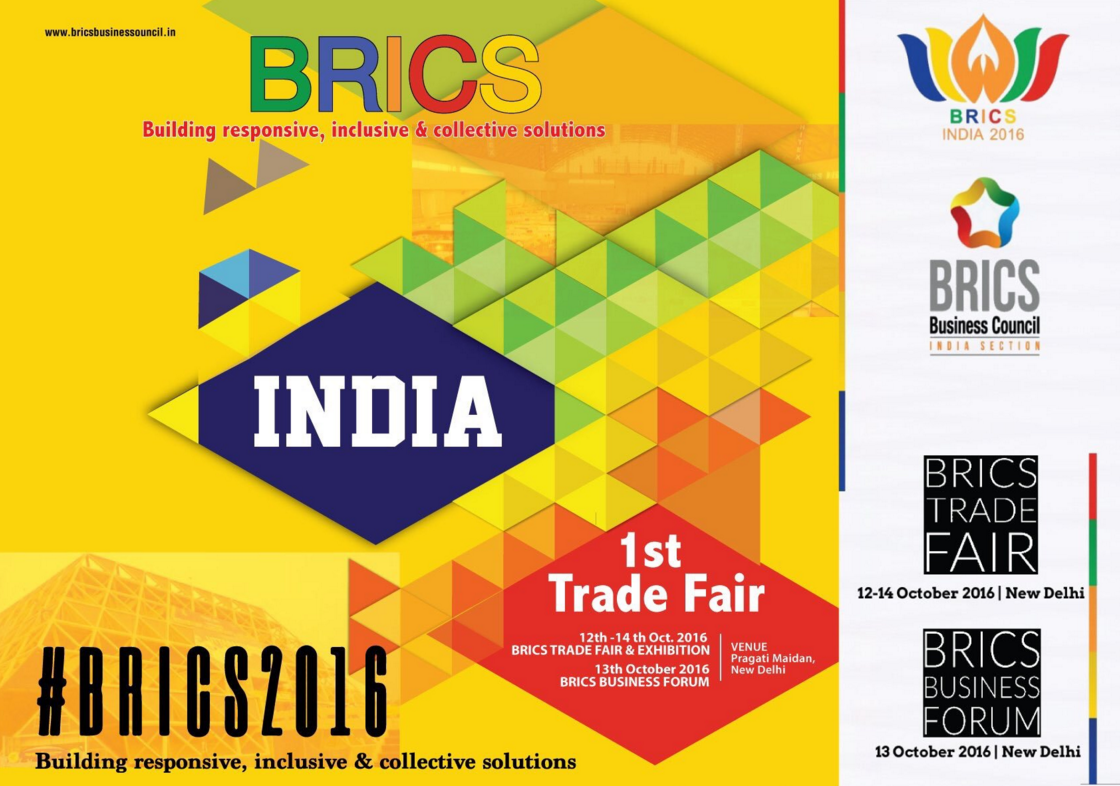 New Delhi is hosting the first ever BRICS Trade Fair from October 12 to 14.