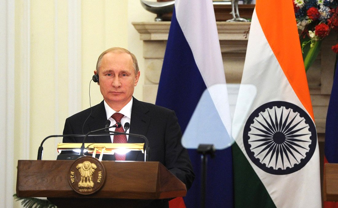 Vladimir Putin during his visit to India in 2014.