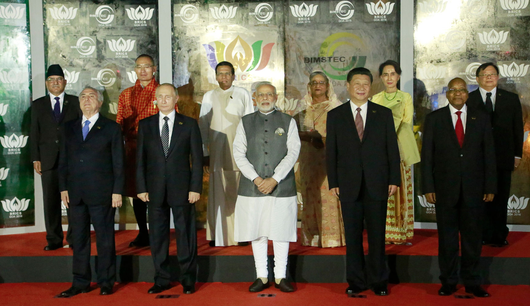 BRICS and BIMSTEC leaders in Goa.