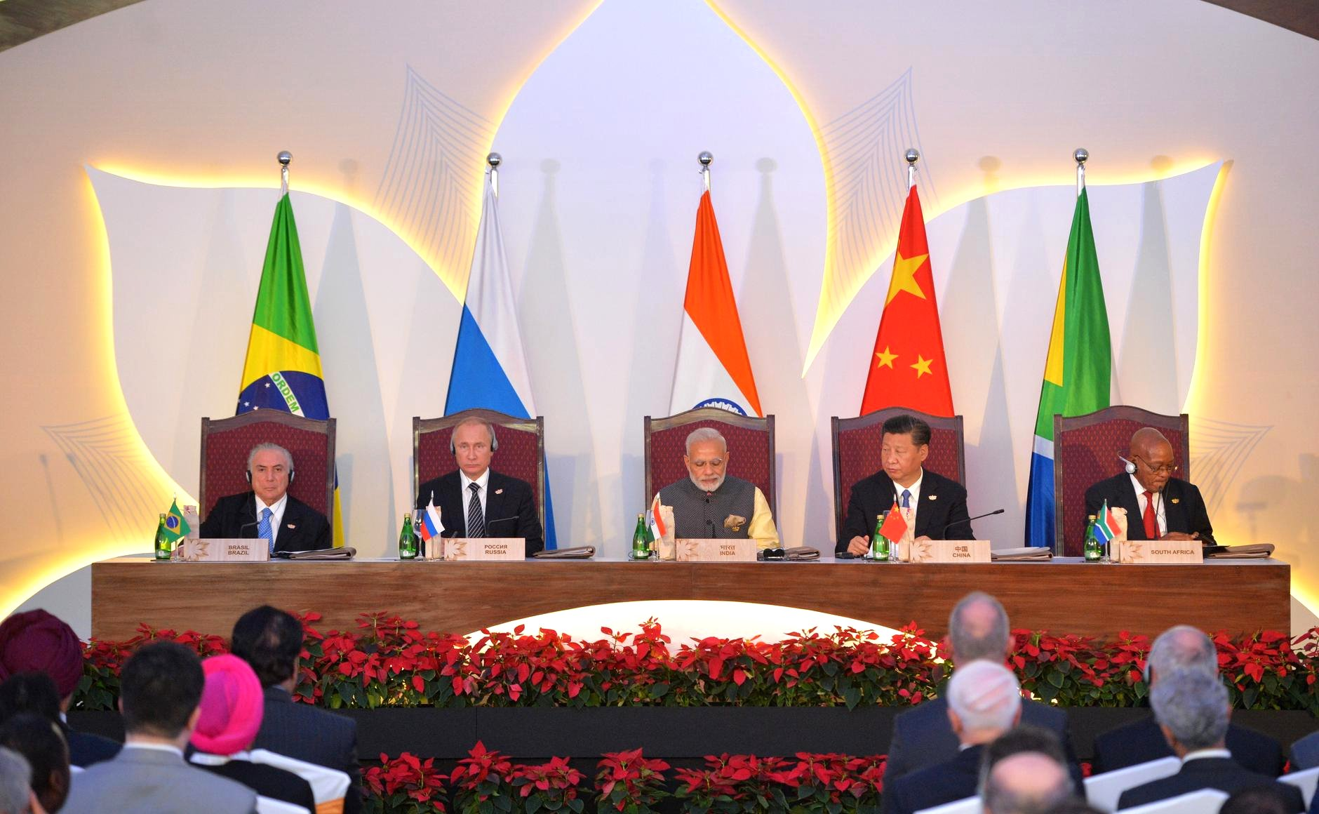 BRICS leaders at the summit in Goa.