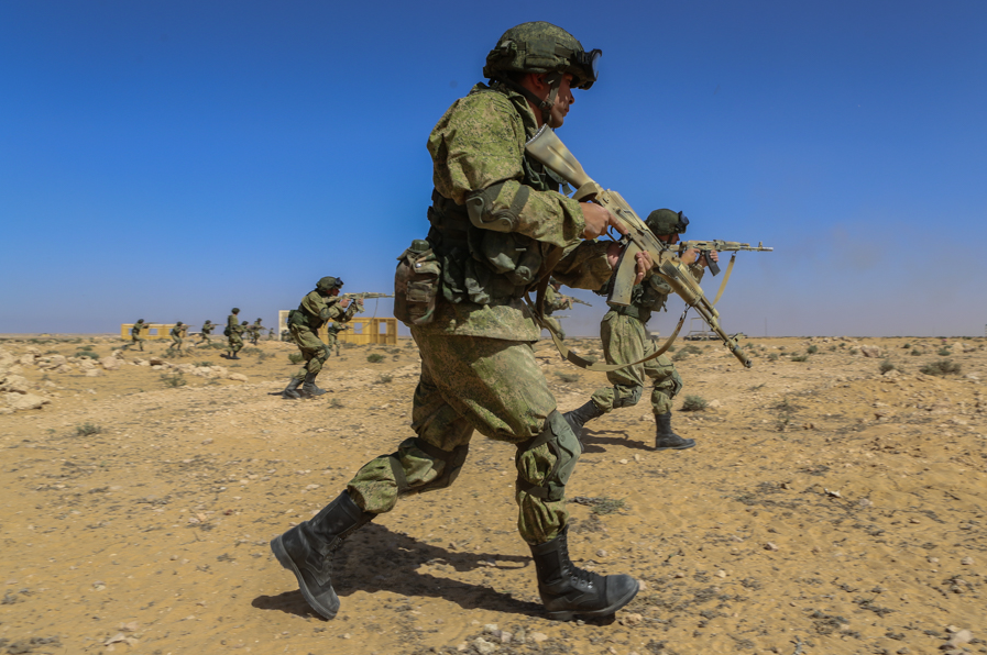 The Russian Airborne Troops arrived in the African continent for the first time.
