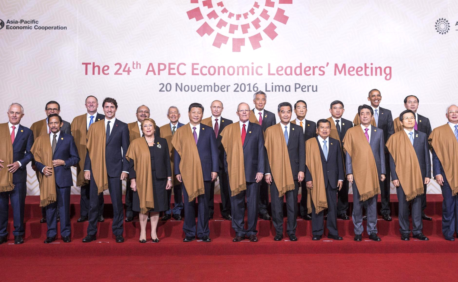 The leaders of the Asia-Pacific Economic Cooperation forum.