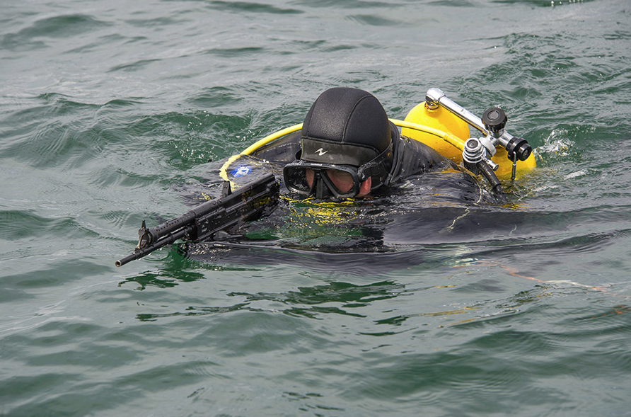 The system detects enemy divers at a depth of up to thirty metres.