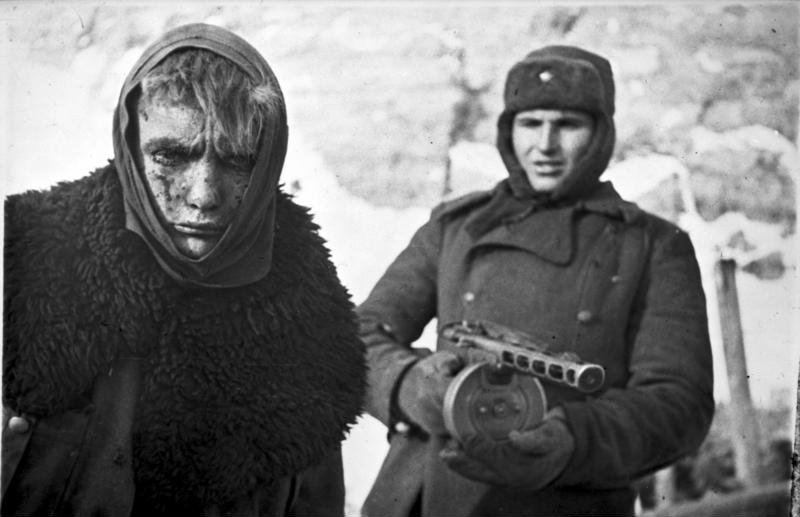 A wounded German POW taken at the Battle of Stalingrad.