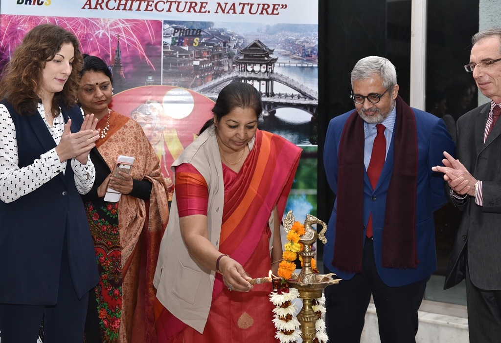 "The inauguration of the Photo Exhibition of the works of winners of the International Contest ""Photo BRICS"" took place in New Delhi."