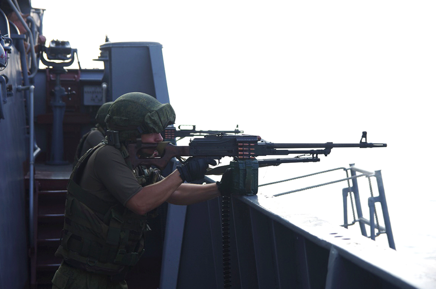 Some 500 servicemen were engaged in the drills.