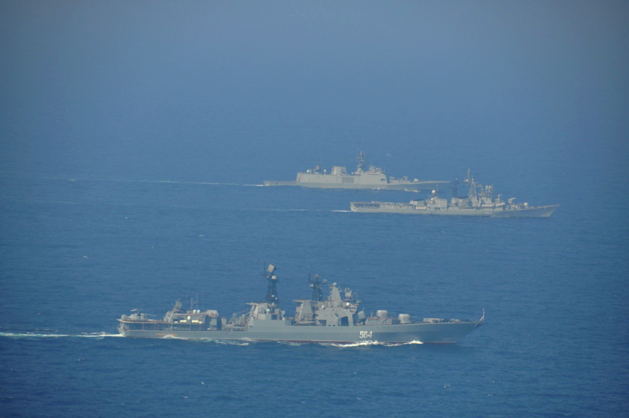 The first joint Russian-Indian naval drills were held in 2003.