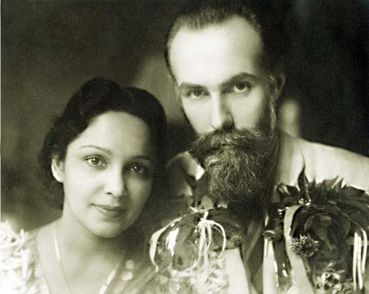 Devika Rani and Svetoslav Roerich were married for almost 50 years. Source: Press photo