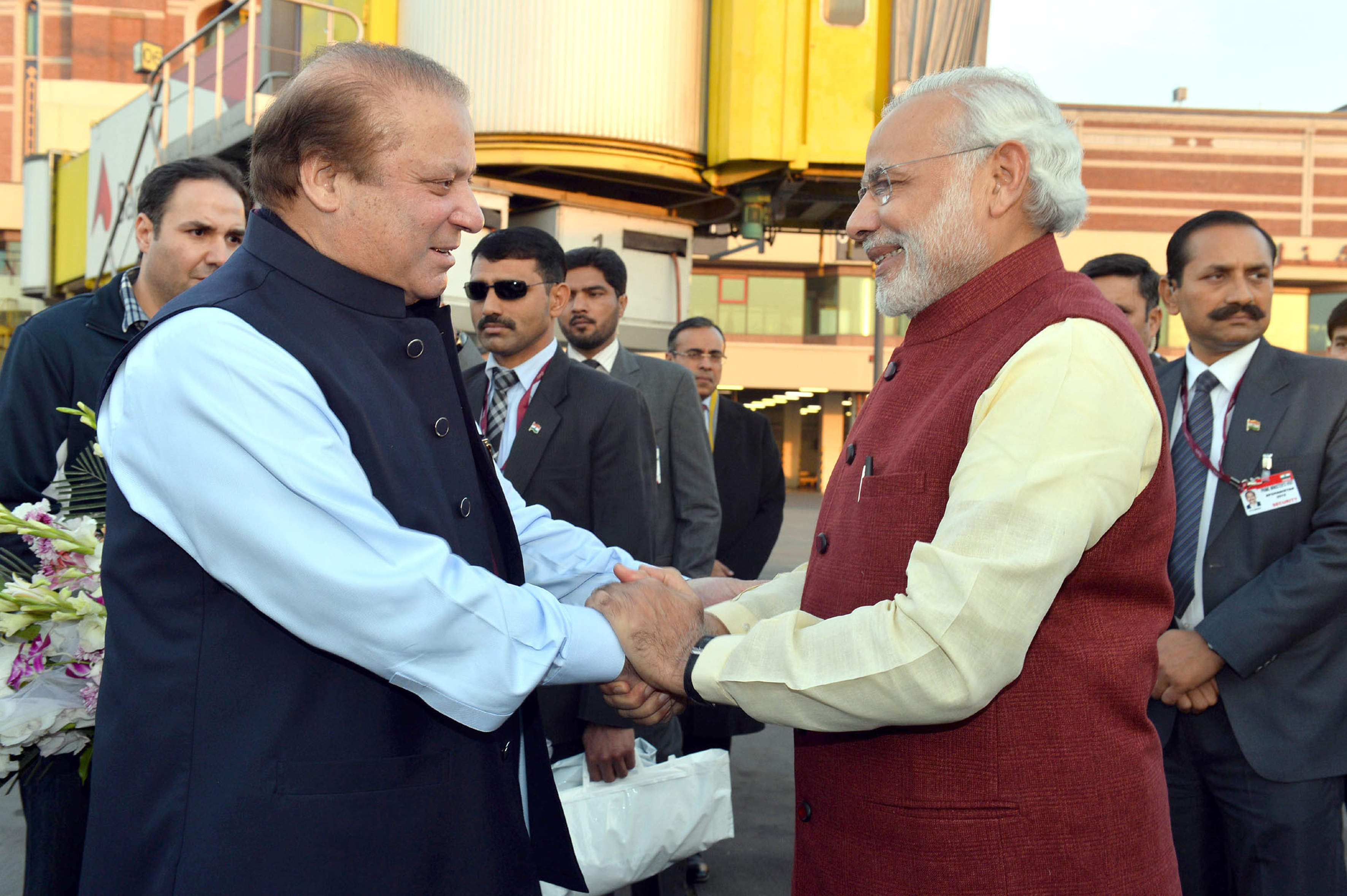 Narendra Modi has made attempts to reach out to Nawaz Sharif in the past. Source: EPA