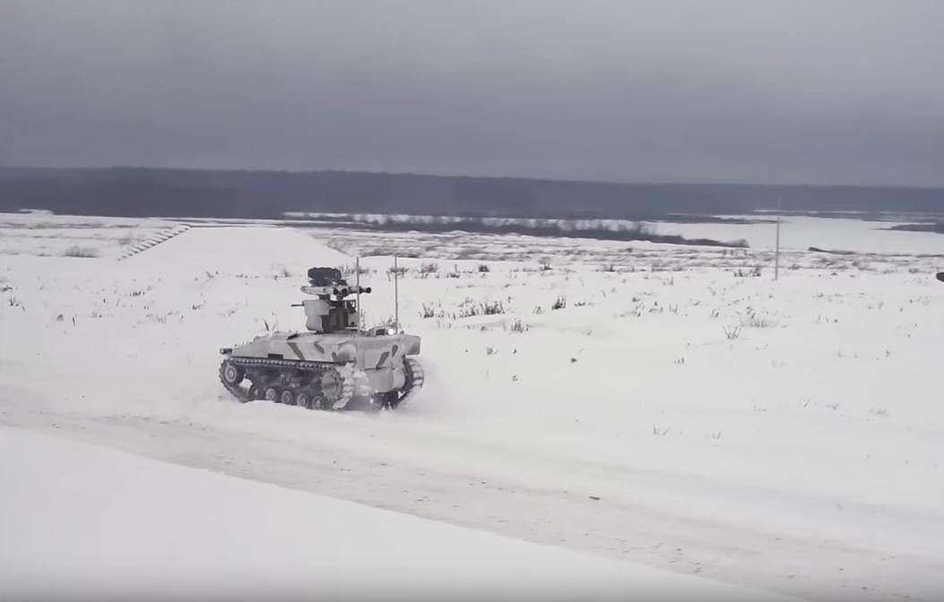 Ministério da Defesa libera vídeos de robôs tanques em ação width=