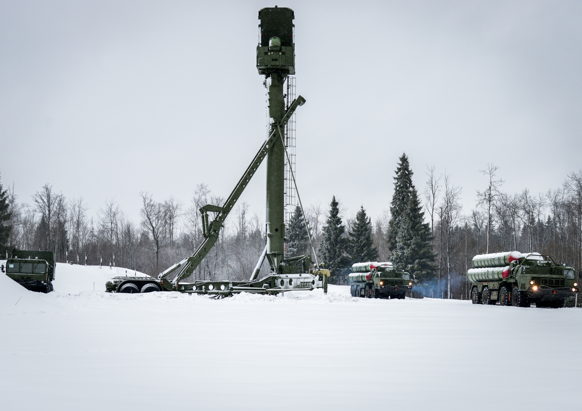 The S-400 Triumf is a Russian long and medium-range air-defence missile system.