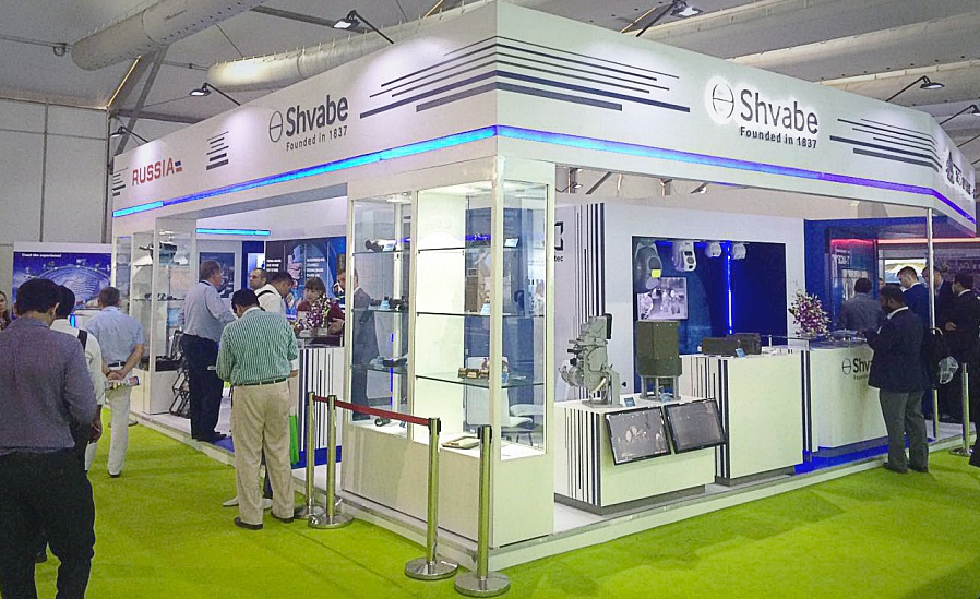 Shvabe pavilion at the Defexpo India 2016 exhibition.