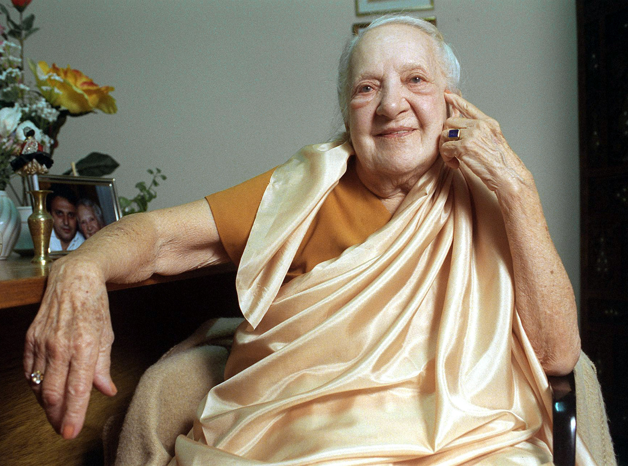 "Indra Devi was known as the ""First Lady of Yoga"". Source: Reuters"