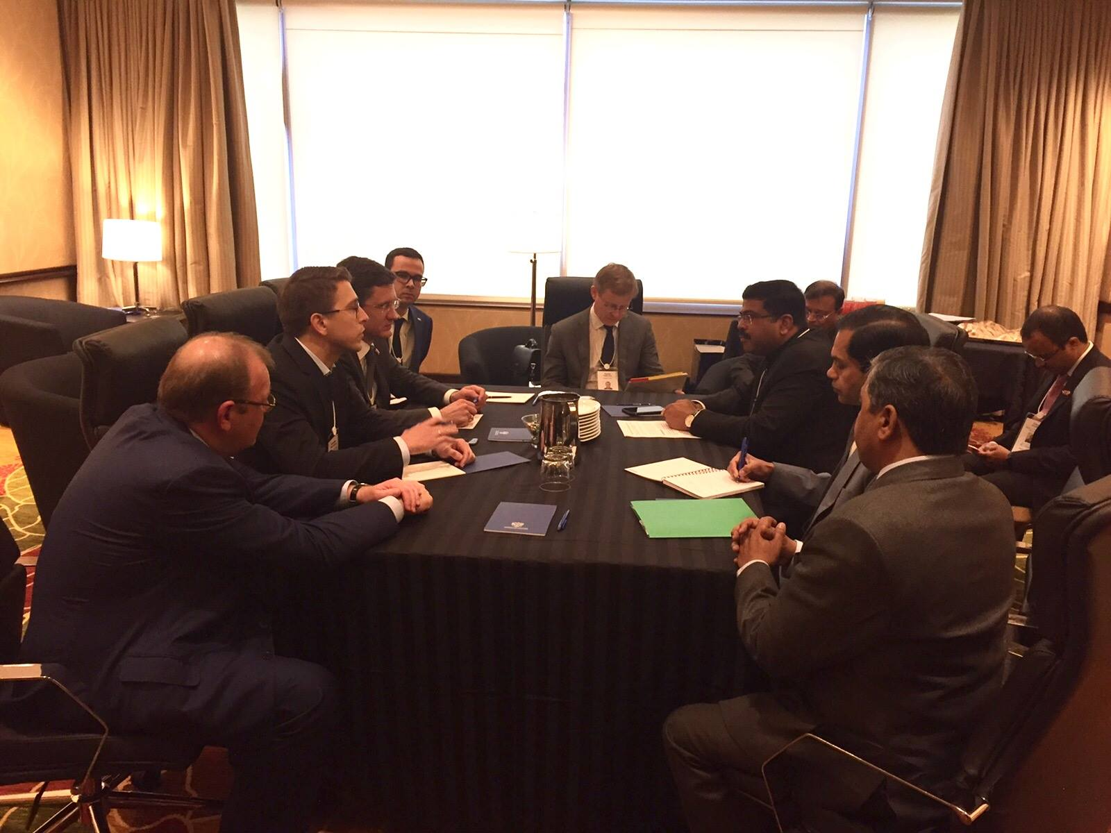 Russian and Indian delegations discussed energy cooperation. Source: Russia's Ministry of Energy