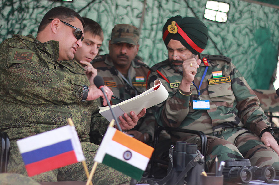 Russia is keen on initiating trilateral defense cooperation with India and China.