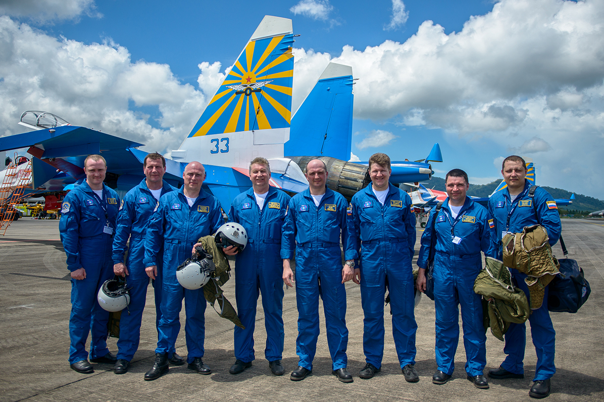 The Knights represented the Russian Air Force in France, the U.S., China, the Czech Republic, Slovakia, Norway, Luxembourg, Belgium, the United Arab Emirates and Malaysia among other countries.