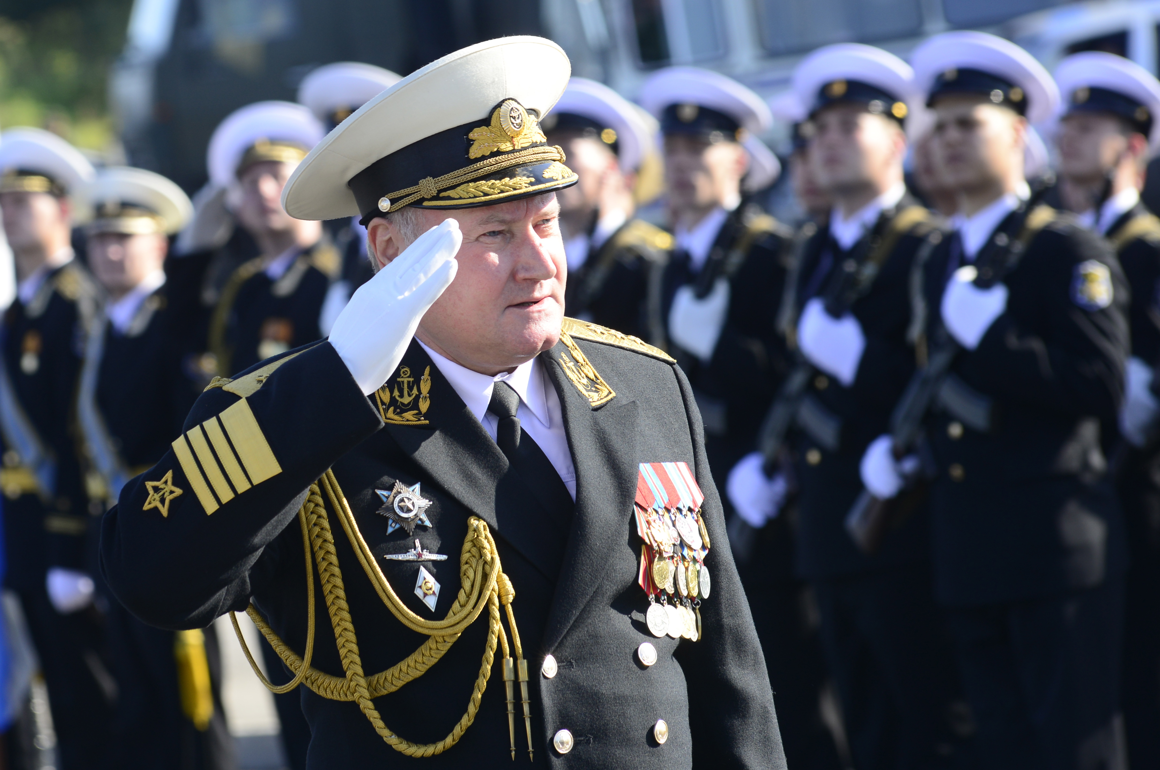 Admiral Vladimir Korolev, Commander-in-Chief of the Russian Navy. Source: Lev Fedoseev/TASS