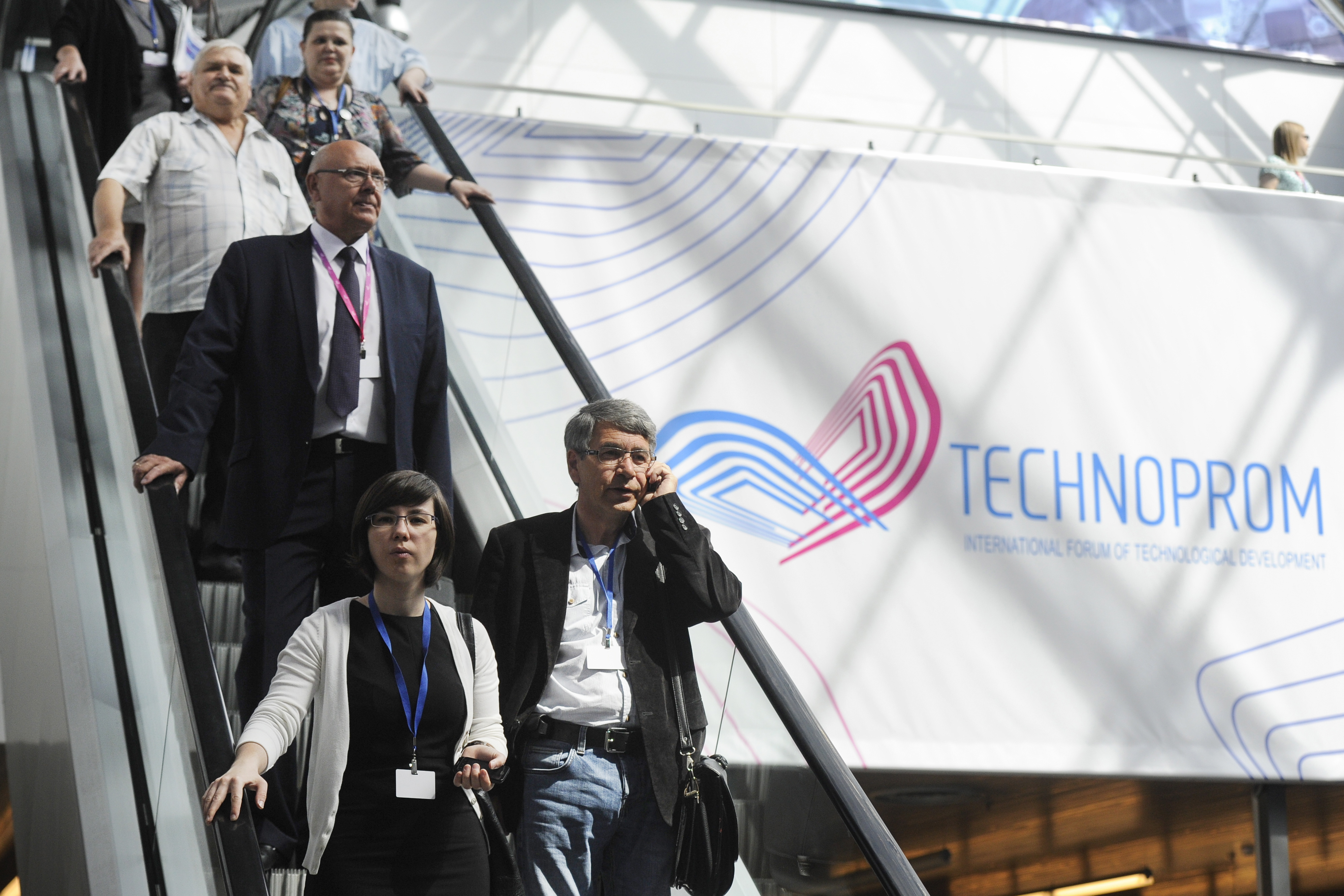 Visitors at the 4th Technoprom International Forum of Technological Development. Source: Kirill Kukhmar/TASS