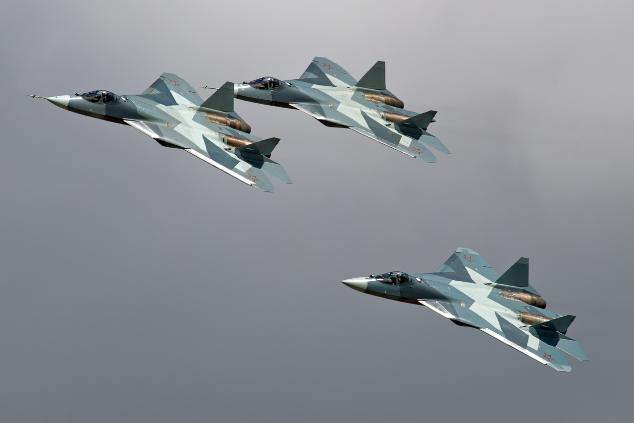 Ловци Су-57, претходно познати како Т-50.