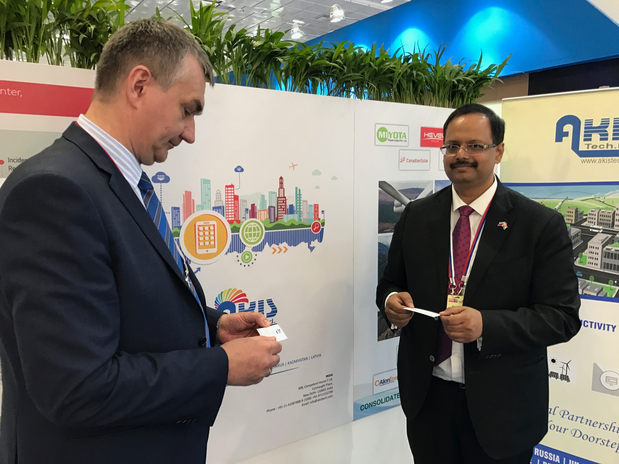 Alok Kumar, President of Myota Power and M.Basheer Ahamed Chairman of Akis Tech Ltd. Source: Ksenia Kondratieva