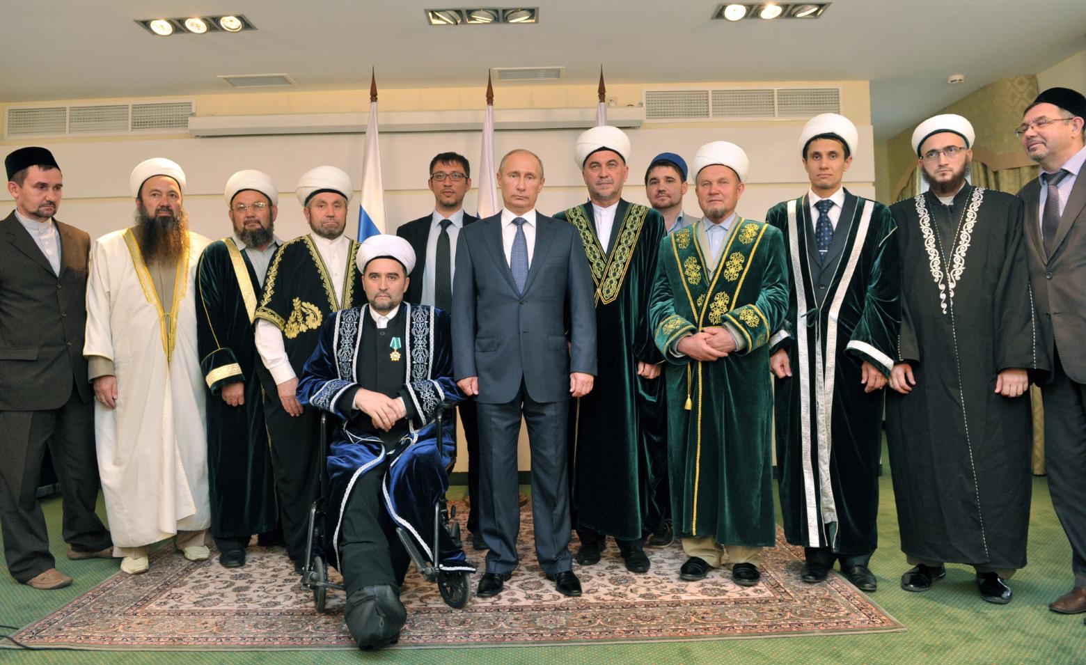 Russian President Vladimir Putin with the Russia's Muslim clergy in 2012. Source: Aleksey Nikolsky/RIA Novosti