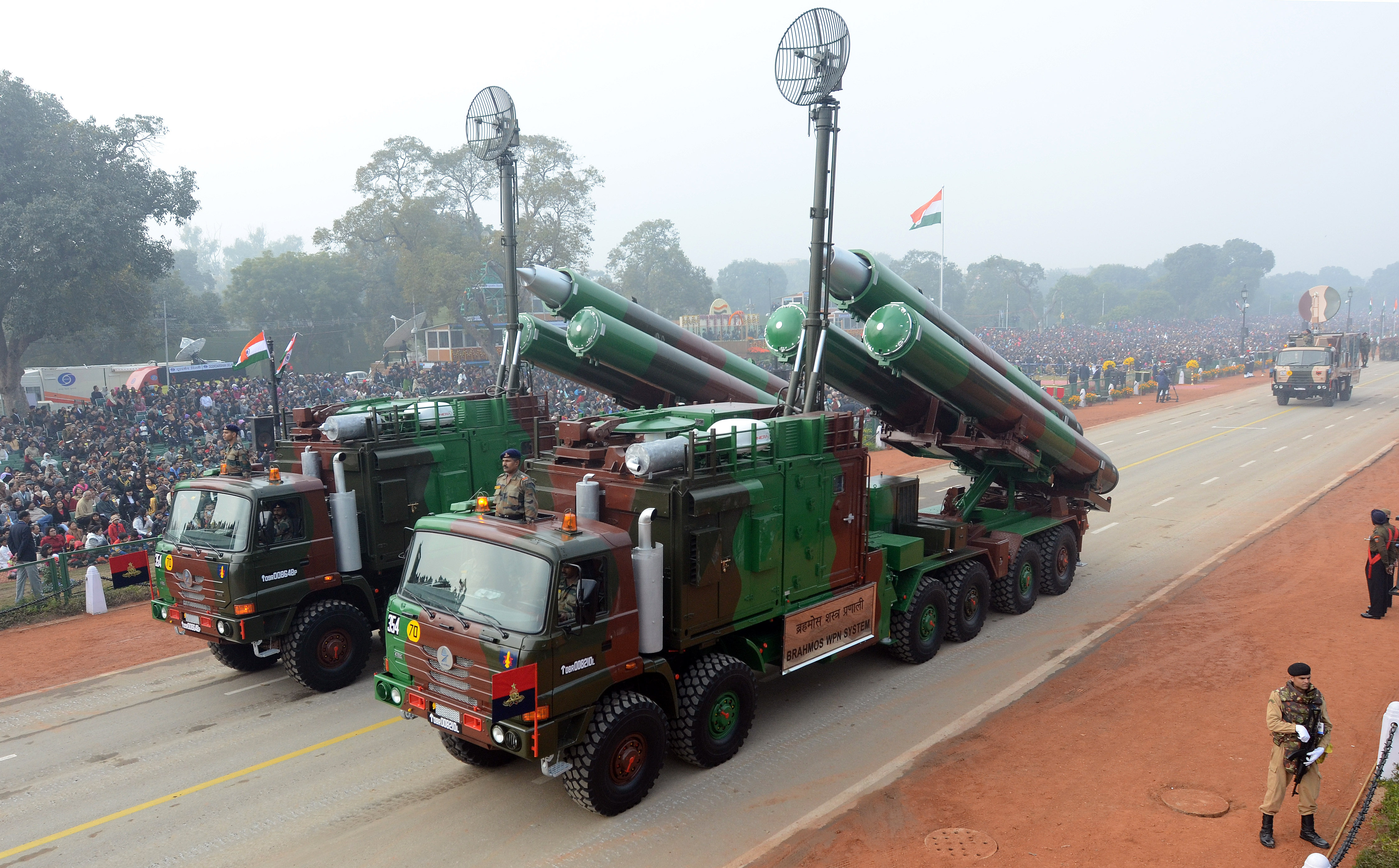 BrahMos supersonic cruise missiles during the Republic Day parade in New Delhi, 2014. Source: Zuma/Global Look Press