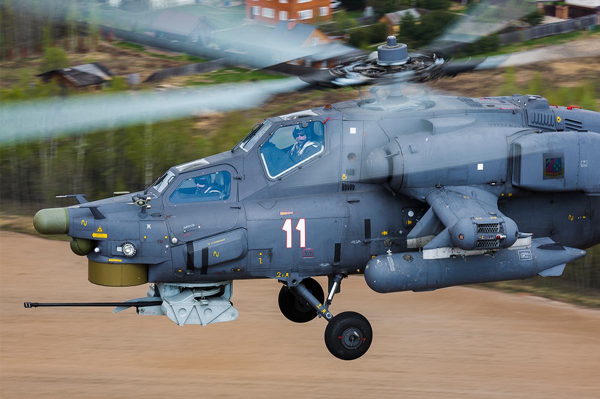 Tim ini beraksi dengan menggunakan helikopter tempur Mi-28 Pemburu Malam dan Ka-52 Alligator.