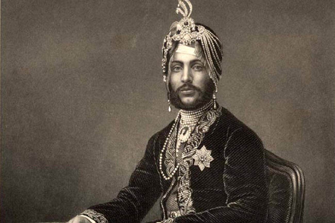 Maharaja Duleep Singh (1838-1893), Maharajah of the Punjab. Engraved by D.J. Pound (ca. 1860s)