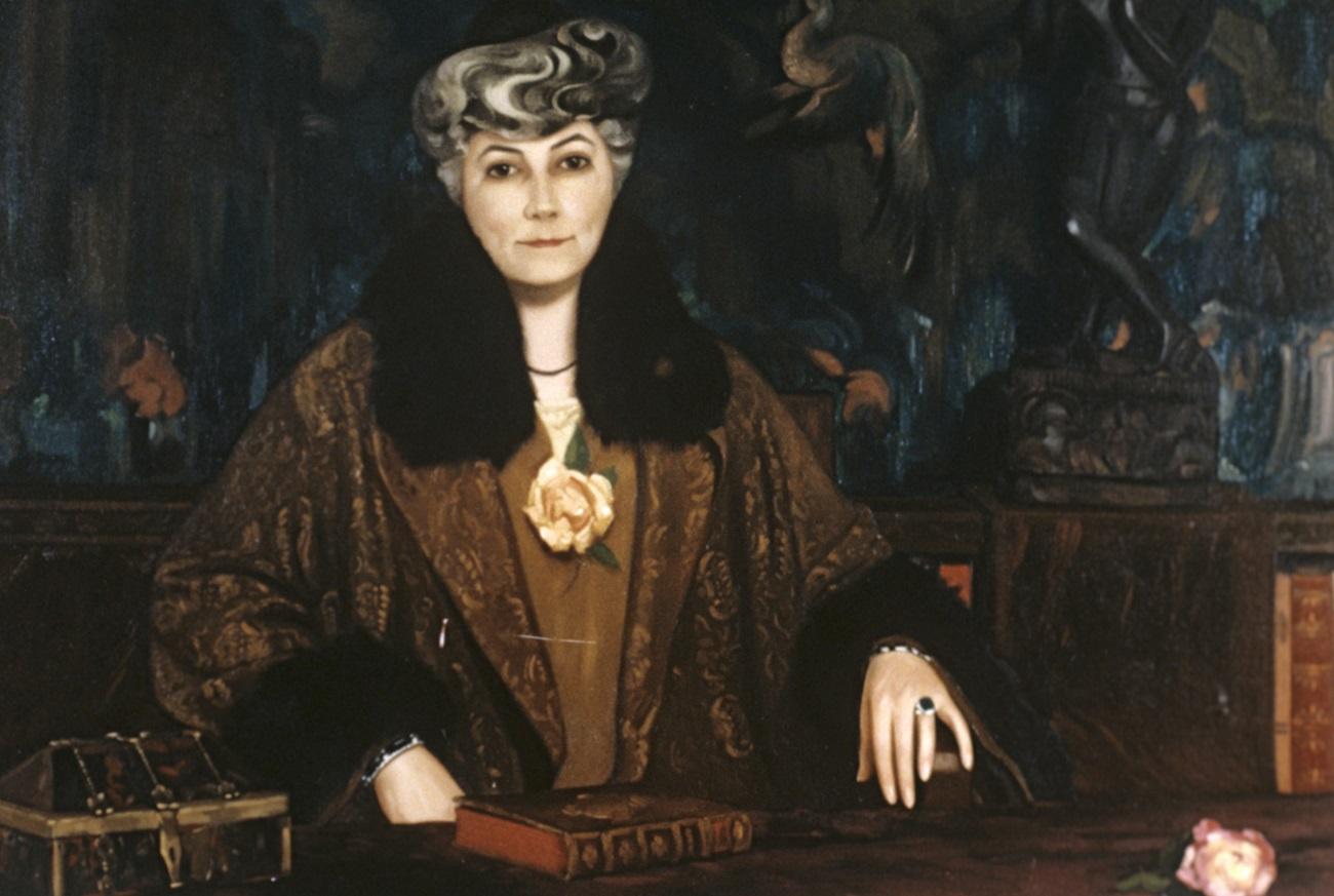 A portrait of Helena Roerich by Svetoslav Roerich (1937)