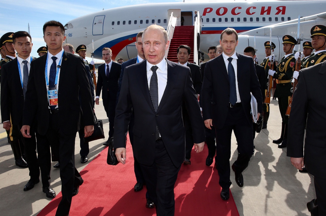 Russian President Vladimir Putin arrives in Beijing to attend 'One Belt, One Road' forum. Source: Zuma/Global Look Press