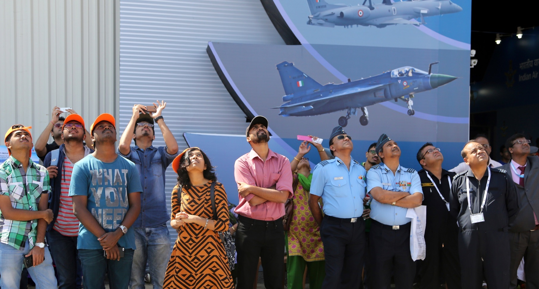 Visitors get a glimpse of aircraft at Aero India 2017 near Bengaluru. Source: AP