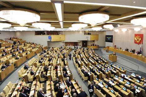 Deputati durante una sessione della Duma di Stato (Foto: Itar-Tass)