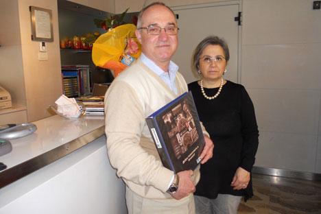 Stefano Biotti con sua moglie (Foto: Mariella Caruso)