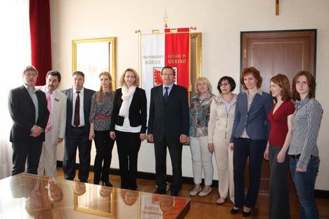 Un momento dell'incontro con la delegazione russa (Foto: Ufficio Stampa)