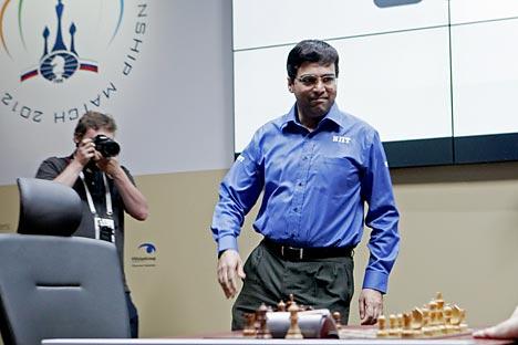 Il campione del mondo di scacchi Viswanathan Anand (Foto: Itar Tass)