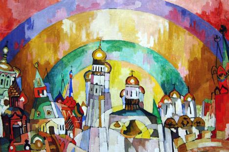 """""""Nebozvon"""" (Suono dei cielo) di A.V.Lentulov, dalla Pinacoteca di  Yaroslavl (Foto: Itar-Tass)"""