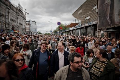 La marcia dei letterati (Foto: Ruslan Sukhushin)