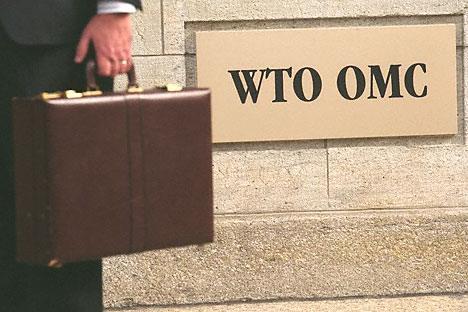 L'ingresso dell'Organizzazione Mondiale del Commercio a Ginevra (Foto: Corbis/Fotosa)