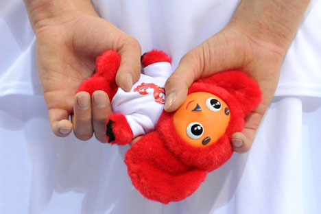 La mascotte della Nazionale russa Cheburashka (Foto: Ria Novosti)