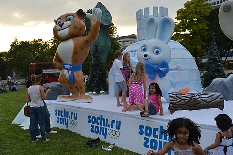 """Il """"Russia.Sochi.Park"""" a Londra promuove i Giochi Olimpici invernali del 2014 (Foto: RIA Novosti/Vladimir Pesnya)"""