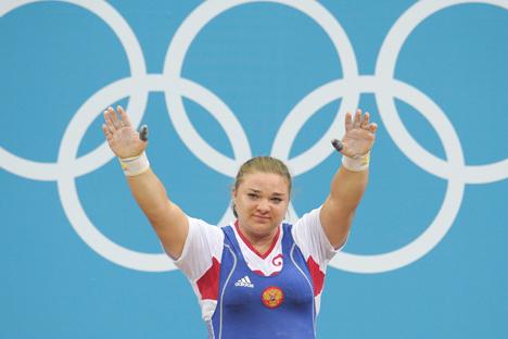 La sollevatrice russa Tatiana Kashirina (Foto: Ria Novosti)