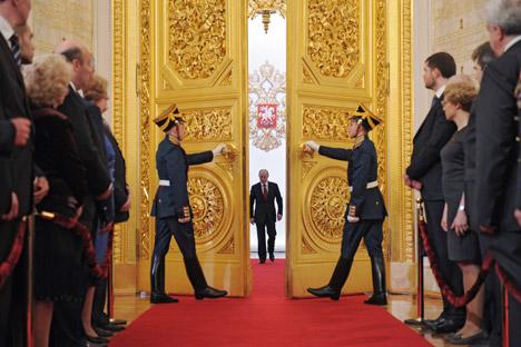 Vladimir Putin nel giorno del suo insediamento al Cremlino per il terzo mandato presidenziale (Foto:  Reuters / Vostock Photo)
