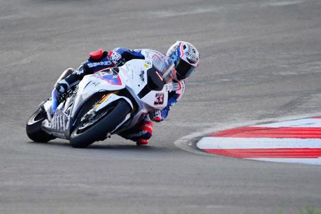 Marco Melandri sul nuovo tracciato che ha ospitato la prima gara del Mondiale Superbike in Russia (Foto: Itar Tass)