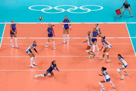 La squadra russa contro la Nazionale italiana durante le Olimpiadi 2012 di Londra (Foto: Itar-Tass)